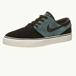 Nike Stefan Janoski black and gray suede sneakers